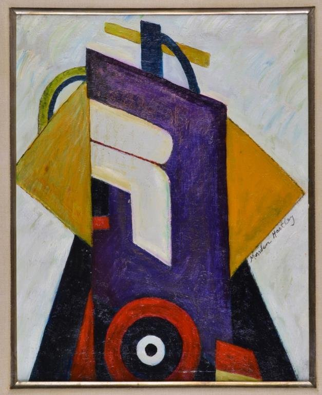 Style of Marsden Hartley Oil Painting on Canvas