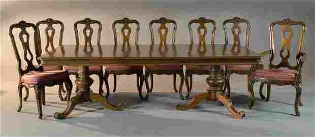 (12) Pc Chippendale Style Dining Set