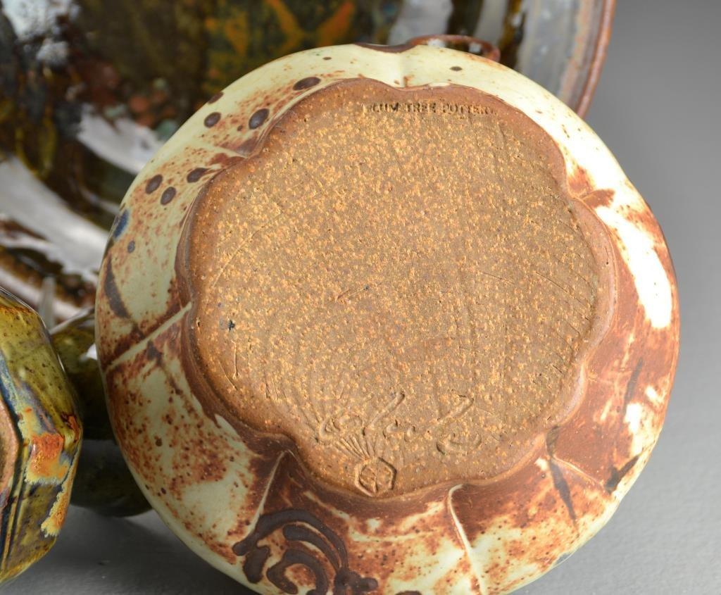 (4) Pcs John Glick, Plum Tree Pottery - 2