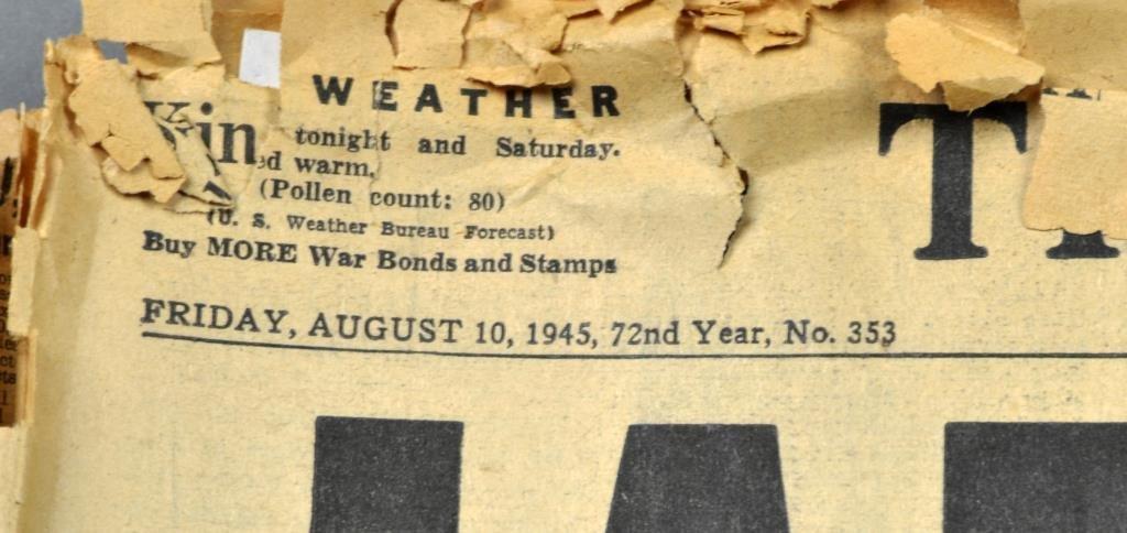 (7) WW2 Detroit Newspapers: Hitler Dead,Pearl Harbor - 4