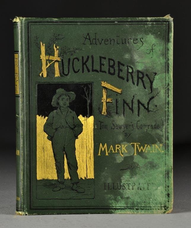 1885 Adventures Of Huckleberry Finn  FIRST EDITION