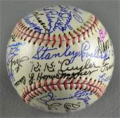 Circa Mid 20th Cen. Signed Baseball By 26 Hall Of