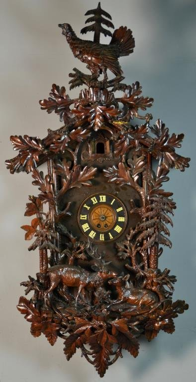 Fine & Massive 19th C. German Black Forest Cuckoo Clock