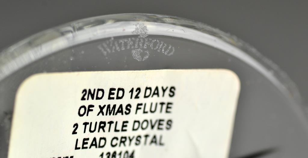(4) Waterford Crystal Christmas Champagne Flutes - 3