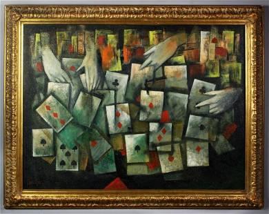 Attr. Mordecai Ardon Oil Painting on Canvas