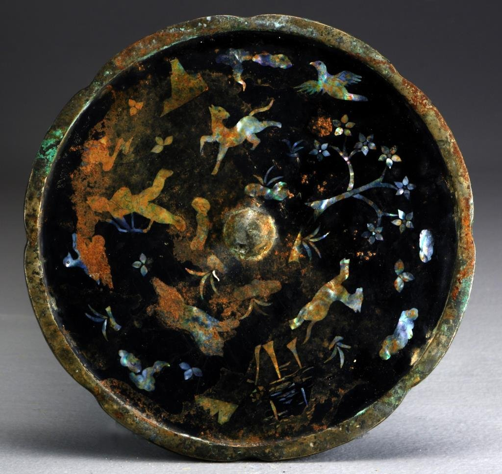A Chinese Ming-Qing MOP Inlaid Bronze Mirror