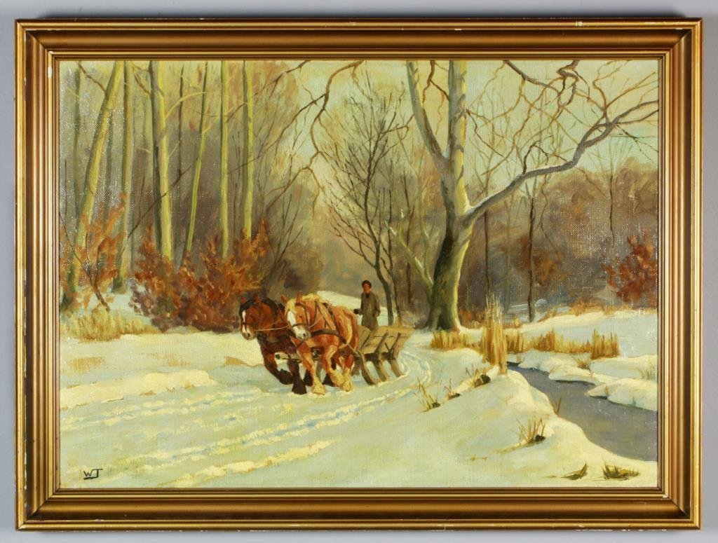 Wlodzimierz Tetmayer Oil Painting on Canvas
