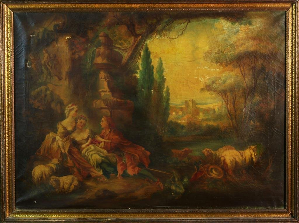 After Francois Boucher Oil Painting on Canvas