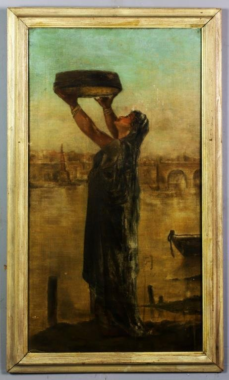 Manner of J. F. Millet Oil Painting on Board