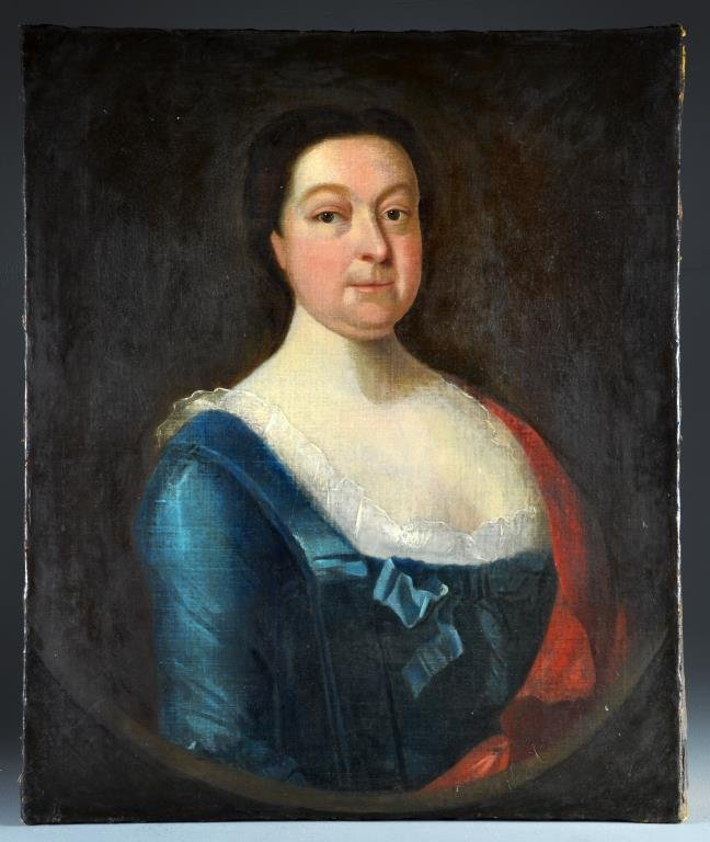 A 17th c. Oil Painting on Canvas, Cromwell's Daughter
