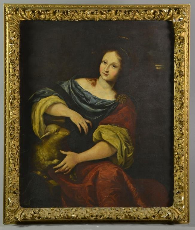 18th C. Old Master Oil Painting on Canvas