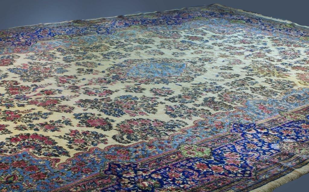 Palace Sized Persian Kerman Carpet