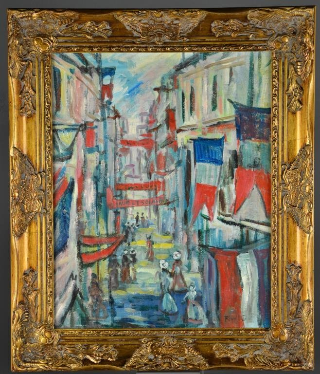 Attributed to Raoul Dufy Oil Painting on Canvas
