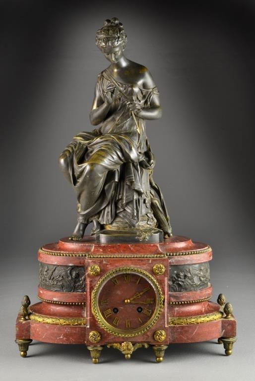 Lemerle Charpentier 19th C. Mantel Clock