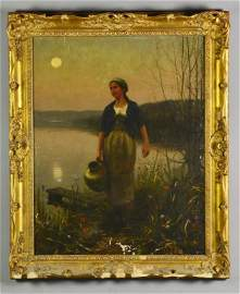 Daniel Ridgway Knight Oil Painting on Canvas
