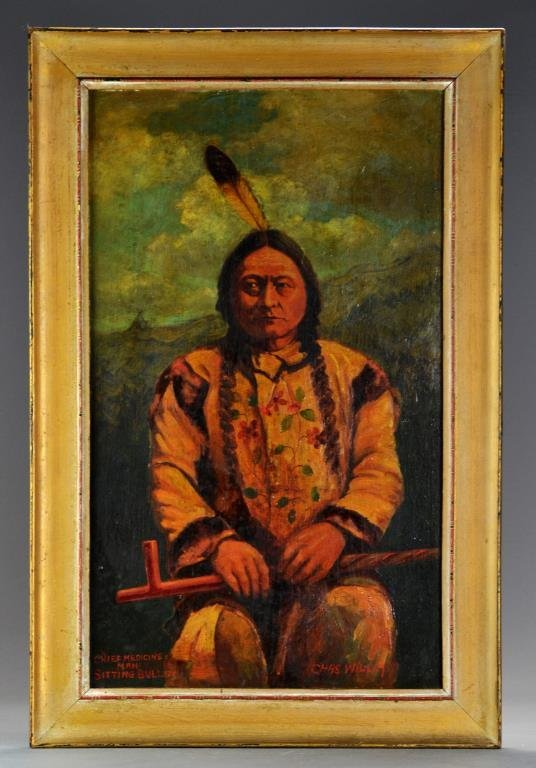 Charles Willim Oil Painting on Board