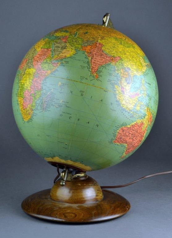 "A Mid 20th Century Replogle 12"" Lighted Table Globe"
