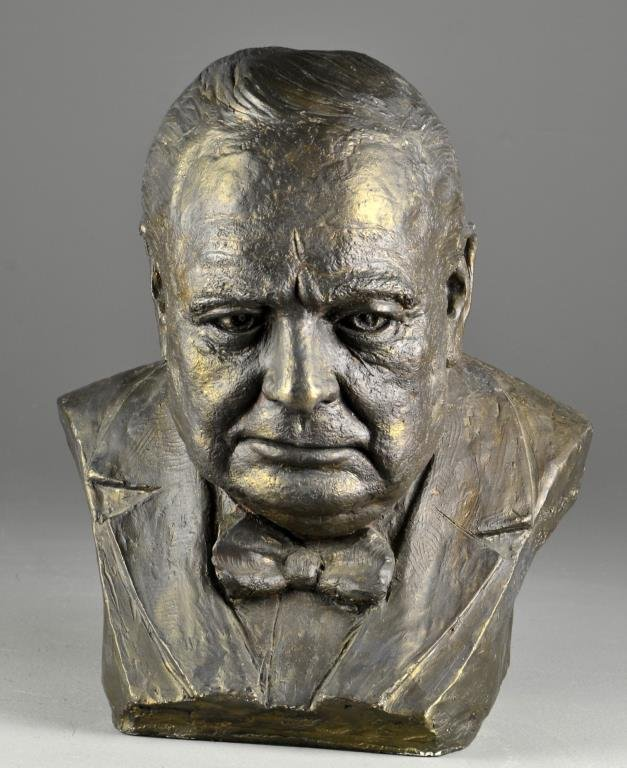 Signed Bust of Winston Churchill
