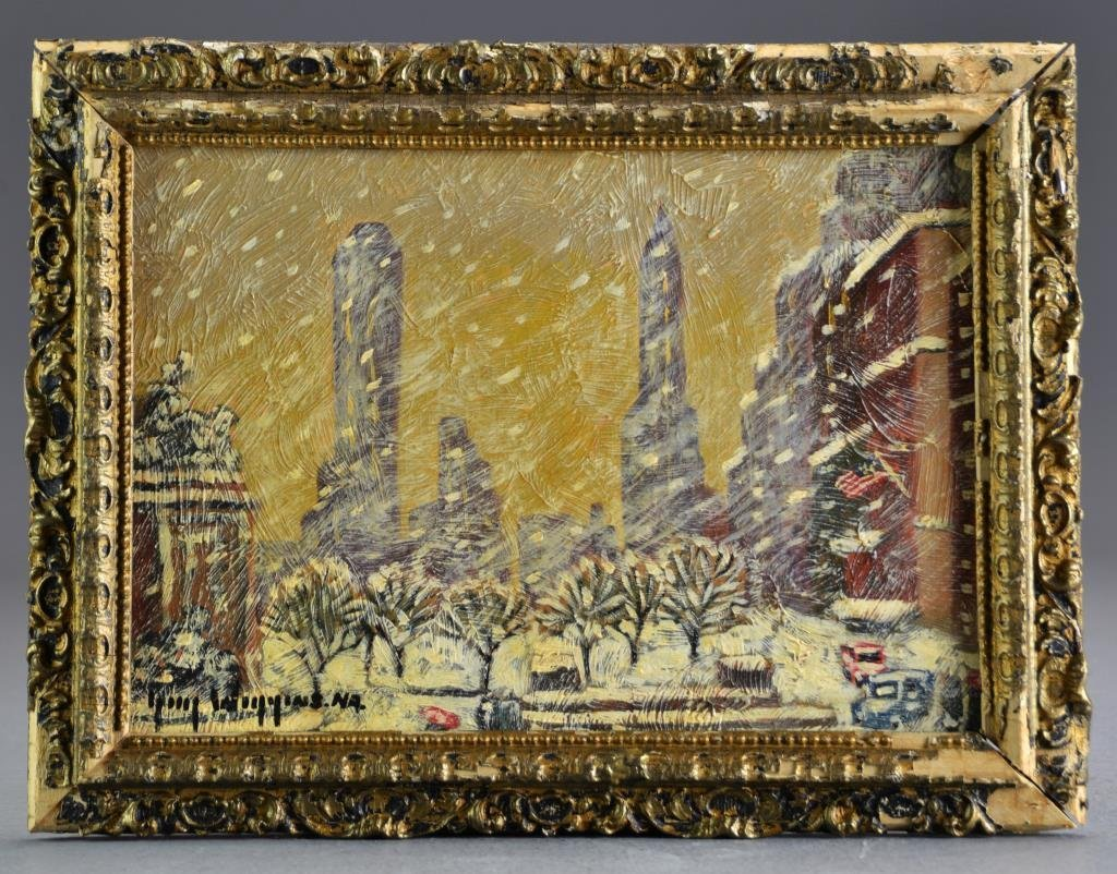 Guy Carleton Wiggins Oil Painting on Board