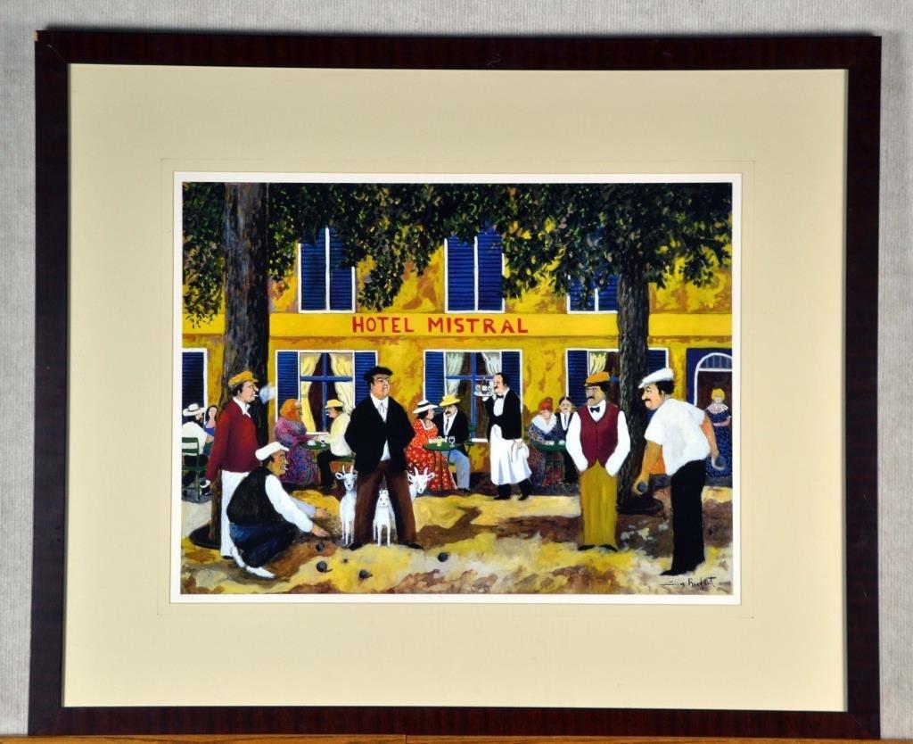 Guy Buffet -Hotel Mistral Framed Print