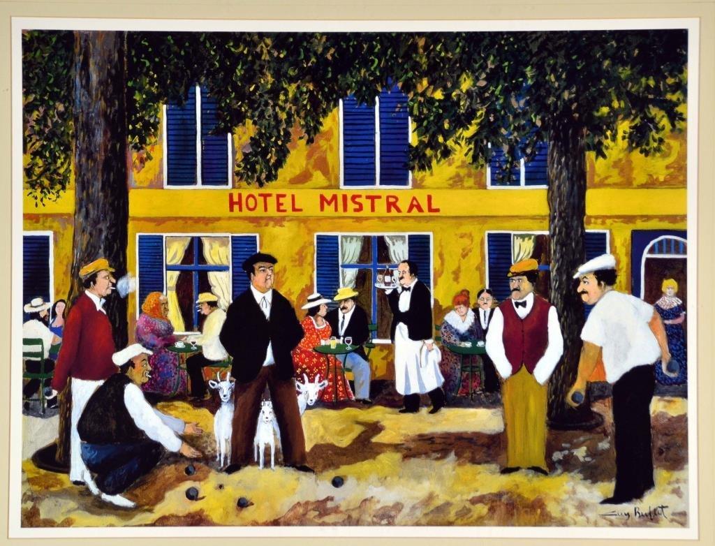 Guy Buffet -Hotel Mistral Framed Print - 2