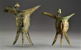 2 Chinese Archaic Style Jue Vessels