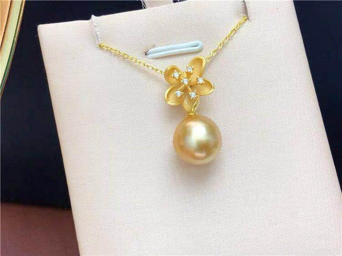 South sea gold en  pearl 925 silver pendant