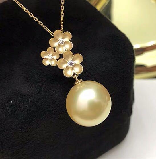 Natural South Sea Gold en  Pearl 18K Gold Pendant