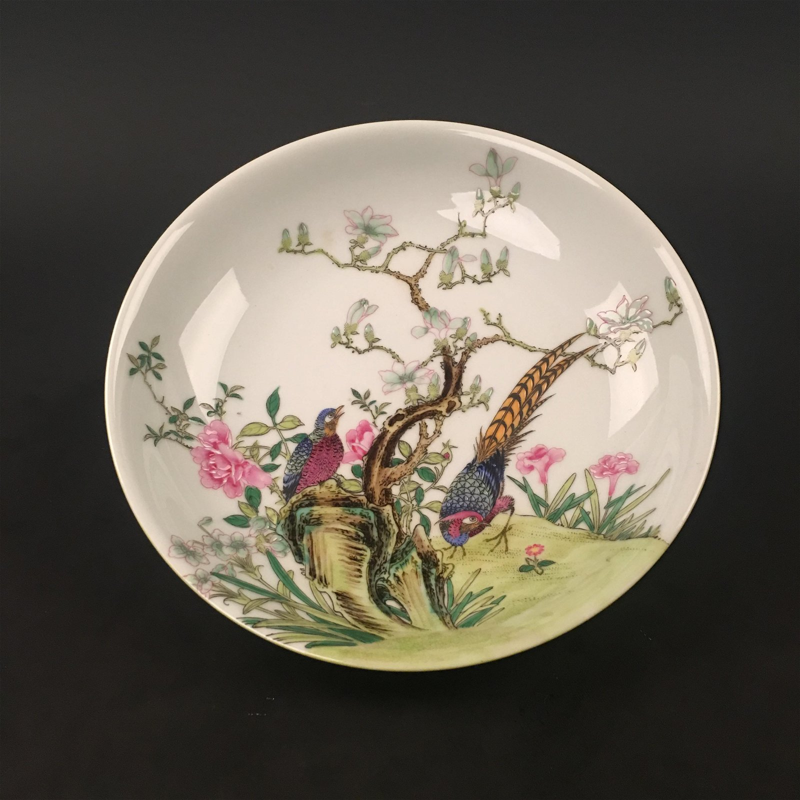 Chinese Famille Rose Plate with Yong Zheng Mark