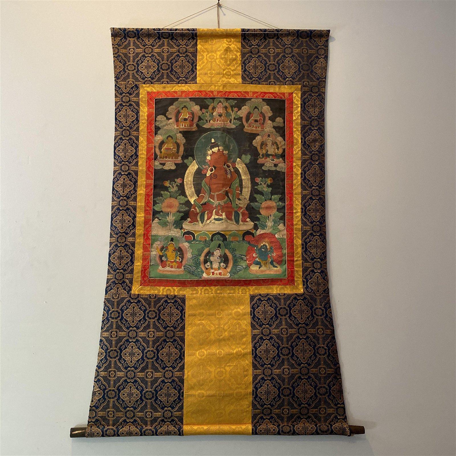 Chinese Tibetan Thangka Painting of Tara
