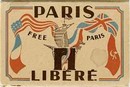 Paris libere  Folder Postcards  the liberation of
