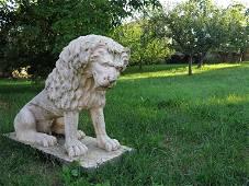 Statue Renaissance Lion, Antonio Canova style 20th C