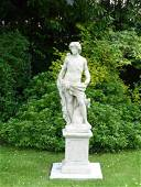 French statue Adam in Stone with pedestal from France