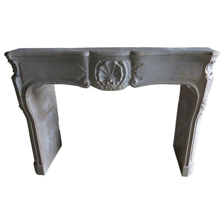 French antique Louis XV fireplace Paris 19th Century