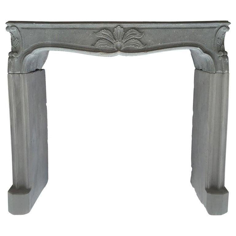 French Louis XV Style Fireplace Restored late 20th