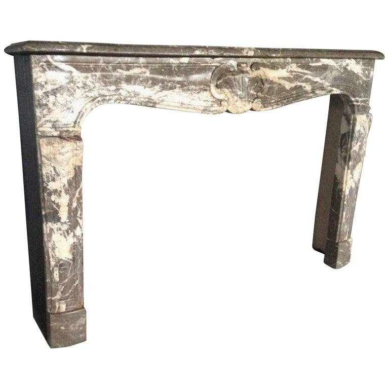French antique marble fireplace Louis XV style 19th C