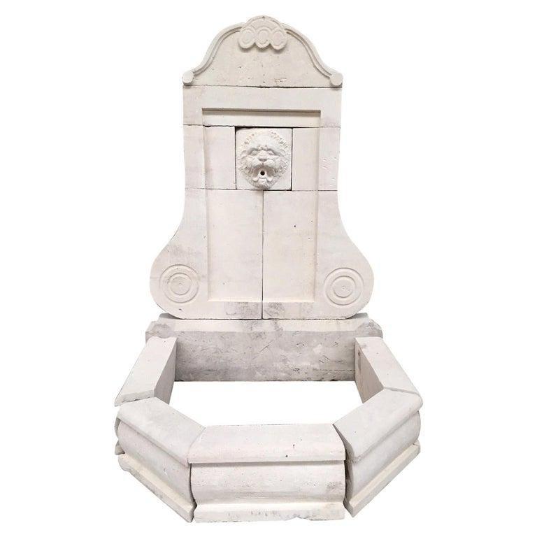 French Louis XV Style antique stone fountain 21stC