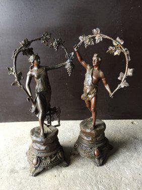French antique love statues (pair) from France