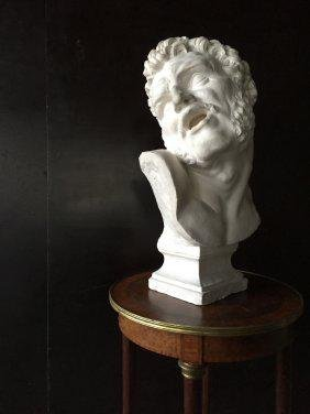 Greek statue style in plaster signed 1925 from France