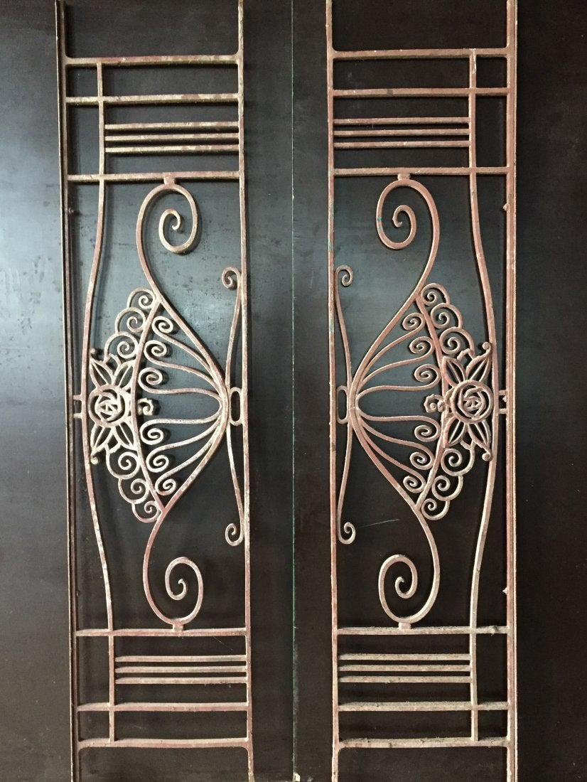 French antique gates (pair) iron 19th Century France