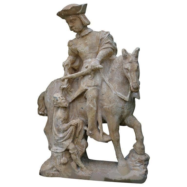 French statue Saint Martin de France, 19th century.