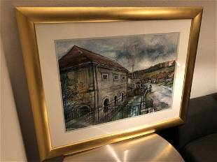 French Antique Painting Signed Lorraine France 20th C