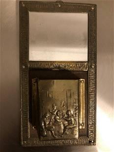 French Antique Mirror Art Nouveau Style Glass 20th C