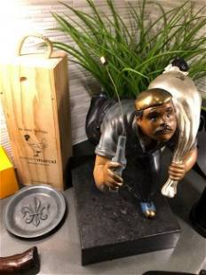 Original Yamagata statue the Thief stamped dated