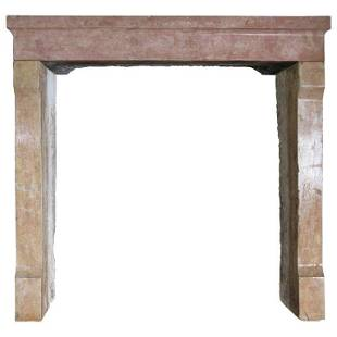 French Contemporary Antique Stone Fireplace 19thC