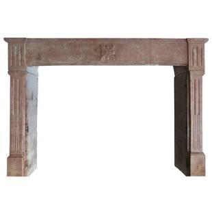 French Louis XVI Style antique fireplace Paris 19thC