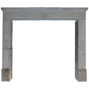 French limestone fireplace Louis XVI style 21stC