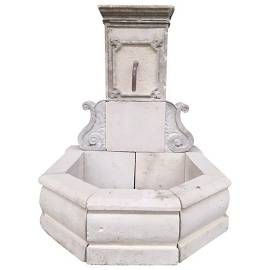 French reclaimed limestone fountain 21st Century