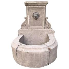 French antique limestone fountain from Provence