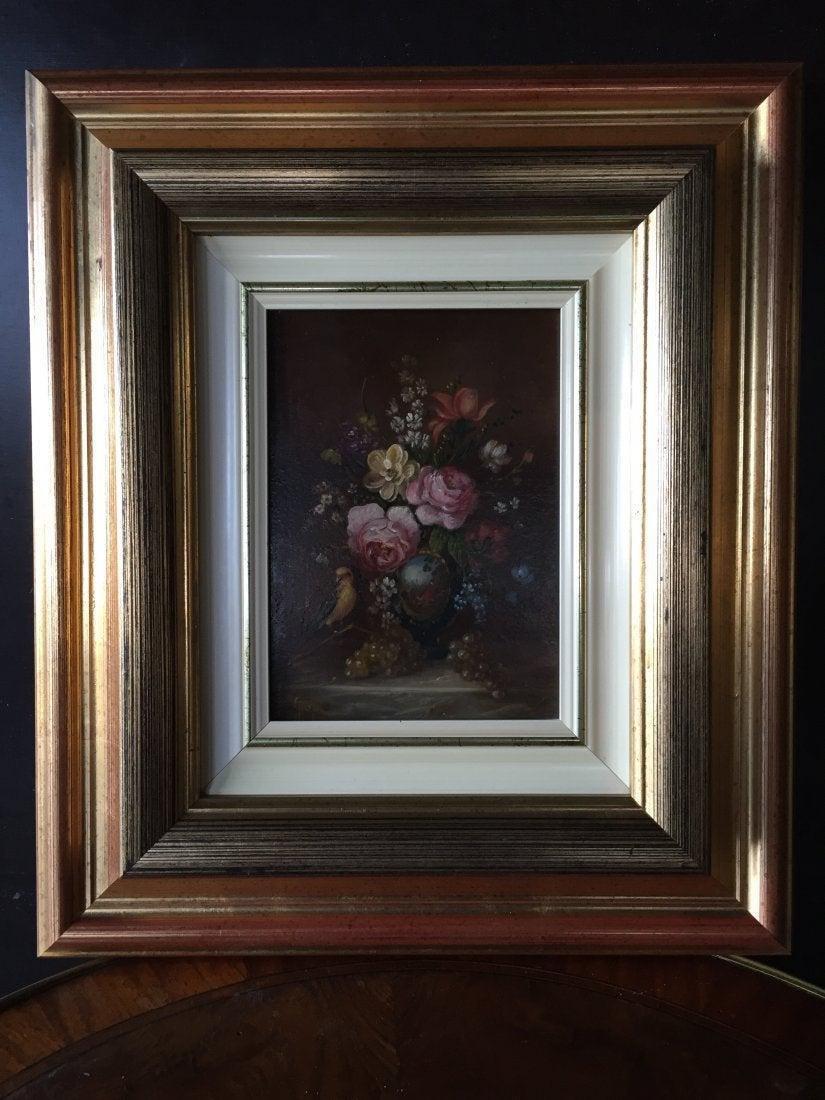 Art work painting signed, wood frame, original, France